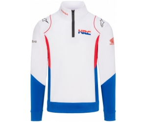 GP APPAREL mikina HONDA HRC Alpinestars white/blue/red