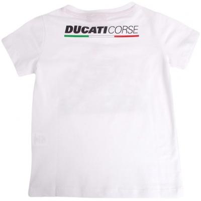 GP APPAREL tričko DUCATI CORSE MASCOT detské white