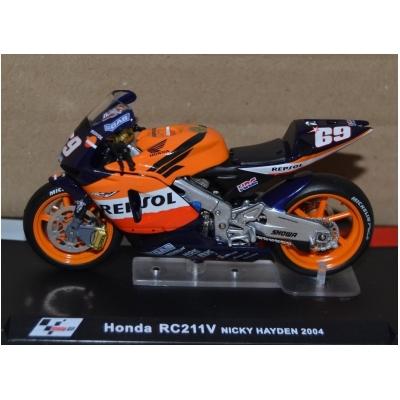 DEAGOSTINI model motorky GP HONDA RC211V Nicky Hayden 2004