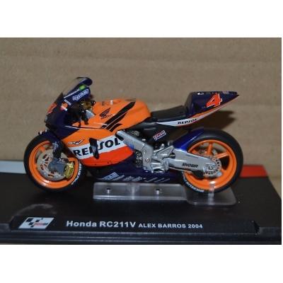 DEAGOSTINI model motorky GP HONDA RC211V Alex Barros 2004