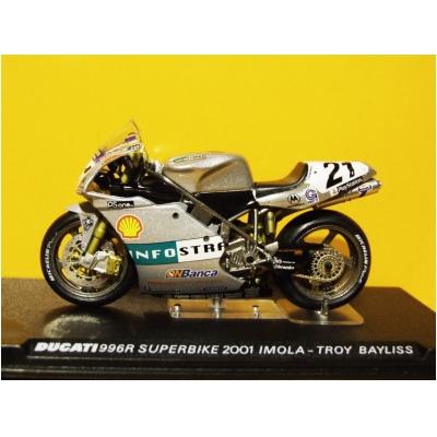 DEAGOSTINI model motorky DUCATI 996R Superbike Imola 2001 T.Bayliss
