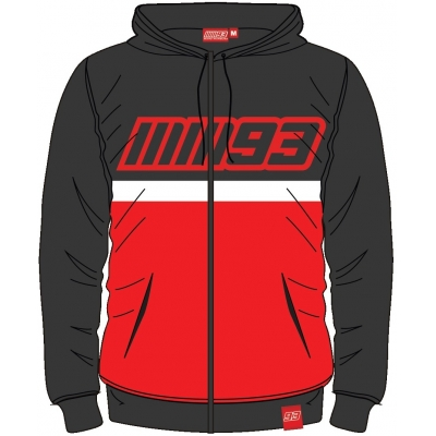 GP APPAREL mikina MM93 black / grey / red