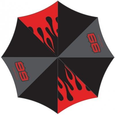 GP APPAREL deštník LORENZO black/red