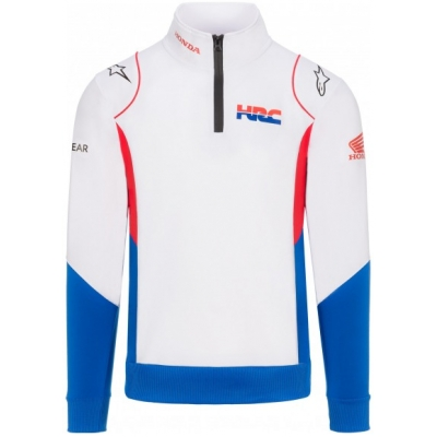 GP APPAREL mikina HONDA HRC Alpinestars white/blue/red