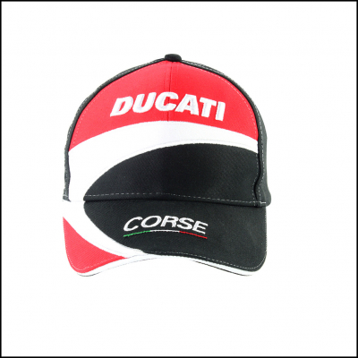 GP APPAREL kšiltovka DUCATI red/black