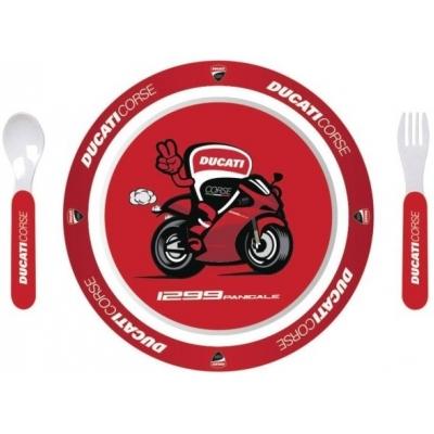 GP APARREL jídelní set DUCATI CORSE MOTO dětské red