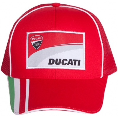 GP APARREL šiltovka DUCATI CORSE Tricolor TRUCKER red