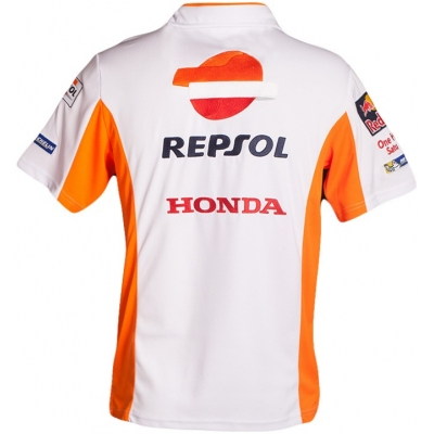 GP APPAREL polo tričko REPSOL HONDA white