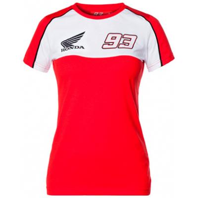 GP APPAREL triko HONDA MARQUEZ dámské red/white