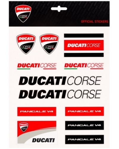 GP APPAREL nálepky DUCATI CORSE Big multicolor