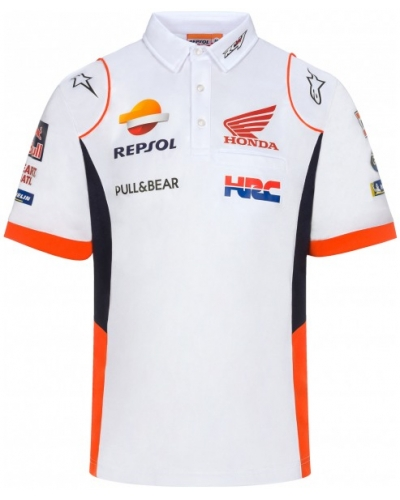 GP APPAREL polo triko REPSOL HONDA white/blue/orange