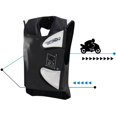 HELITE airbagová vesta E-GP AIR black