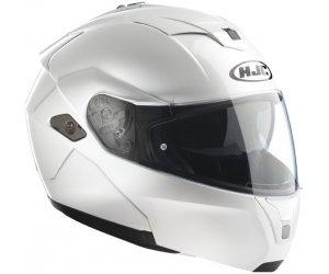 HJC přilba SY-MAX III pearl white - POUŽITÁ vel.2XL