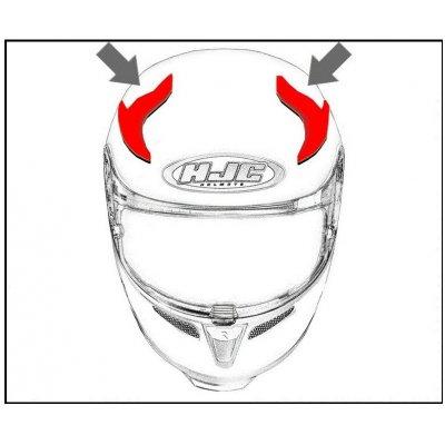 HJC ventilace i70 Horní metal black