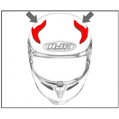 HJC ventilace RPHA 70 Horní Pinot MC1SF, 4SF, 5SF, 8SF