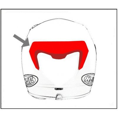 HJC ventilace RPHA 11 Zadní Lightning MCqueen