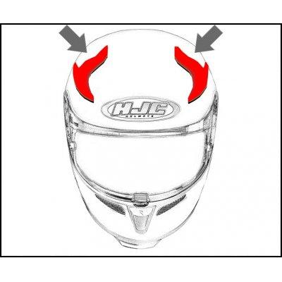 HJC ventilace RPHA 10 PLUS Horní Furia MC7
