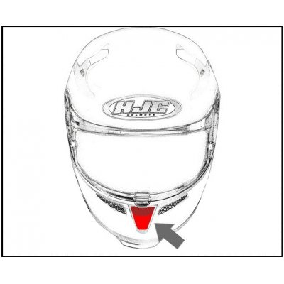 HJC ventilace RPHA 11 Ústní pearl white