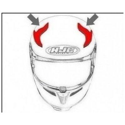 HJC ventilace RPHA 70 Horní semi matt black