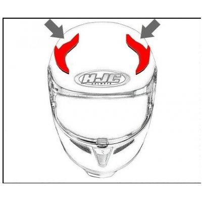 HJC ventilace FG-ST Horní semi black