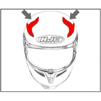 HJC ventilace RPHA MAX EVO Horní dark silver
