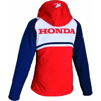 HONDA bunda HYBREED SOFTSHELL 16 dámská red/white/blue