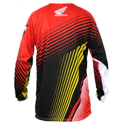 HONDA dres CROSS detský black / red / yellow / white