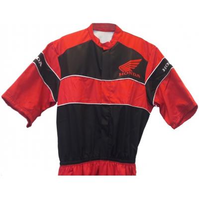 HONDA montérky overal krátký rukáv black/red