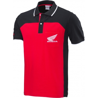 HONDA triko RACING POLO 18 black/red