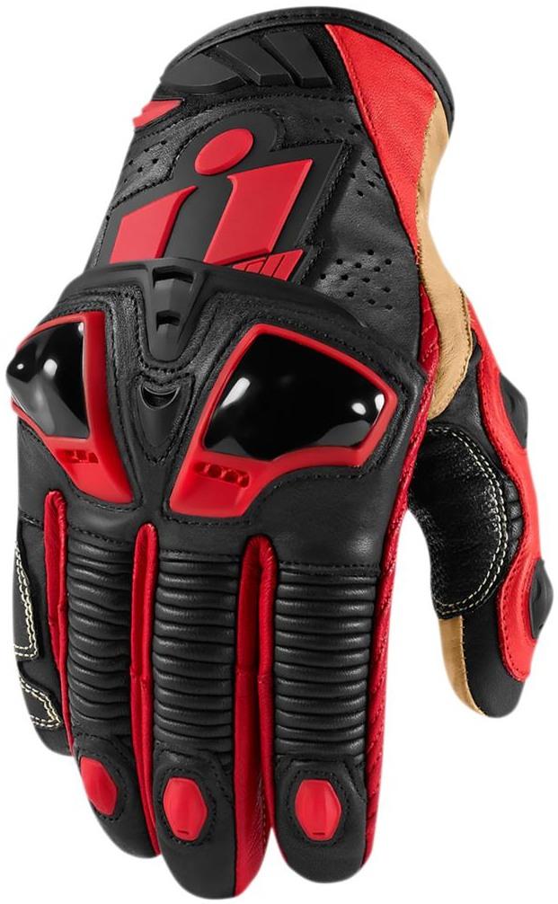 37c619cb7e7 ICON rukavice HYPERSPORT PRO short red