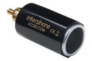 INTERPHONE adaptér DIN z malé motocyklové zásuvky na automobiovou, slim provedení