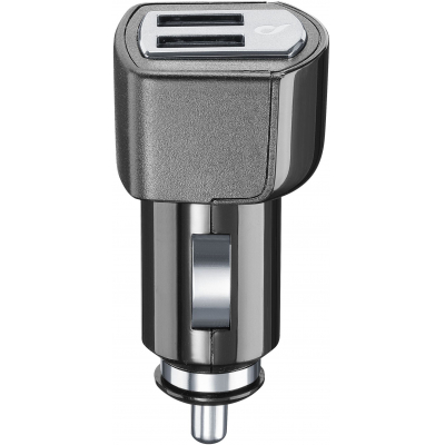 CELLULARLINE miniaturní autonabíječka DUAL s konektory 2x USB 4.2A black