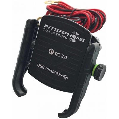 INTERPHONE držák MOTOCRAB USB black