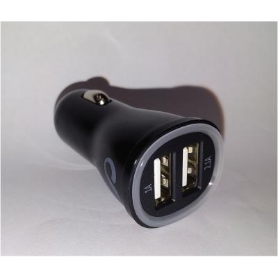 CELLULARLINE miniaturní autonabíječka DUAL s konektory 2x USB 2A black
