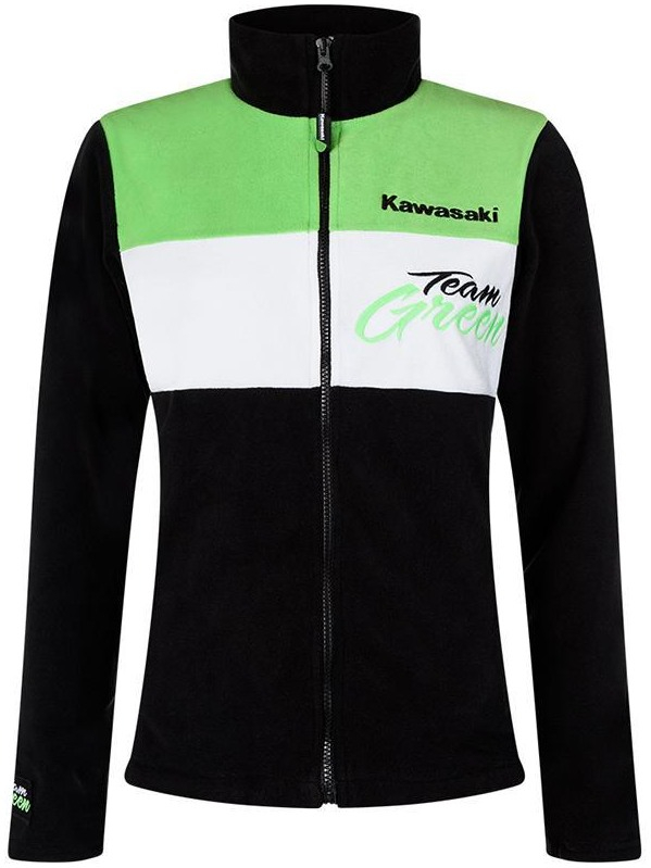 KAWASAKI mikina na zips TEAM GREEN dámska black   white   green ... 084343ca5f5
