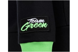 KAWASAKI mikina s kapucí TEAM GREEN dámská black/white/green