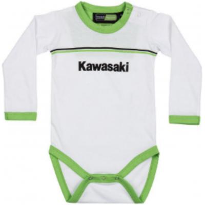 KAWASAKI body s dlhým rukávom KRT detské white/green