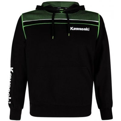 KAWASAKI mikina s kapucňou SPORTS black / green