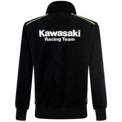 KAWASAKI mikina na zips KRT SWEATSHIRT black / green