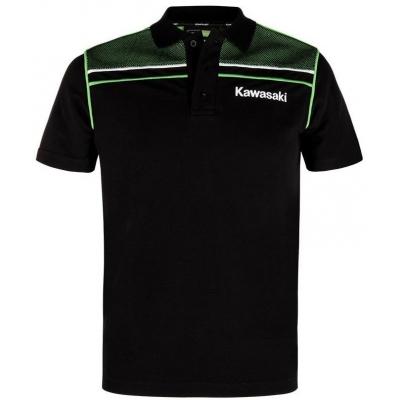 KAWASAKI polo triko SPORTS black/green