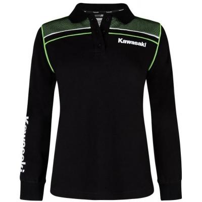 36805500e161 KAWASAKI polo triko s dlouhým rukávem SPORTS dámské black green