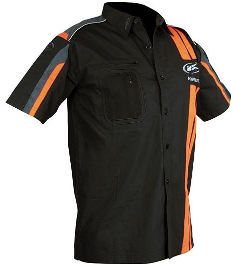 KENNY košile RACING 10 black orange  09927f329d