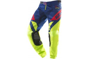 KENNY nohavice TRACK 19 lime/navy/red