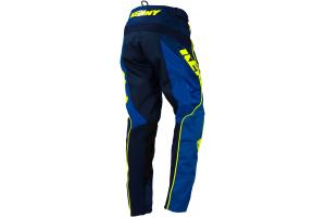 KENNY kalhoty TRACK 16 dětské blue/neon yellow