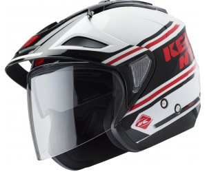 KENNY prilba EVASION 19 white/red/black