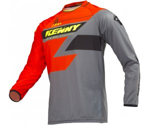 KENNY dres TRACK 19 orange/grey/neon yellow