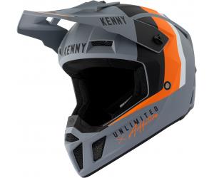 KENNY přilba PERFORMANCE 21 matt grey/orange