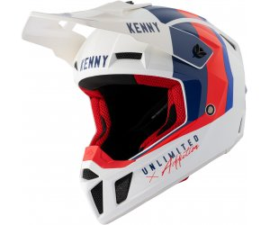 KENNY přilba PERFORMANCE 21 white/blue/red