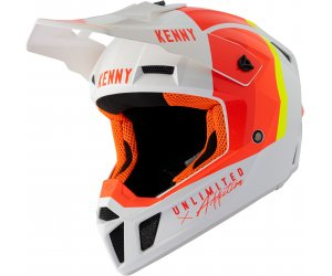 KENNY přilba PERFORMANCE 21 white/red/orange