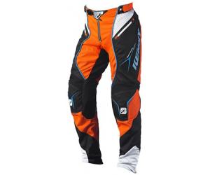 KENNY kalhoty TITANIUM 15 blk/neon orange/cyan